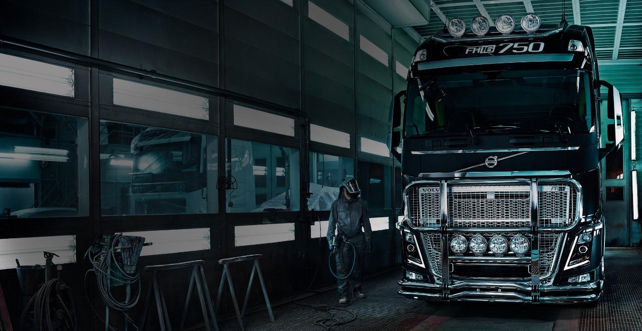 Volvo trucks financing helmet man FH